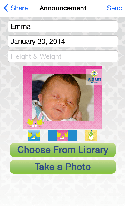 Baby Announcement Mobile App